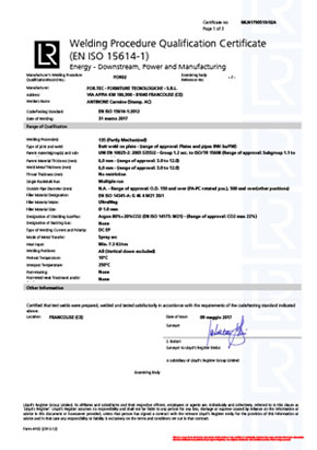 Welding Procedure Qualification Certificate (EN ISO 15614-1)/(EN